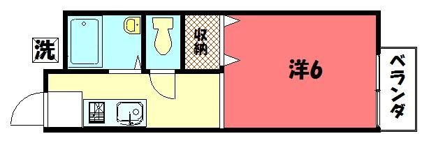物件番号: 1075900921 ヴィラ哲学の道  京都市左京区鹿ケ谷法然院町 1K ハイツ 間取り図