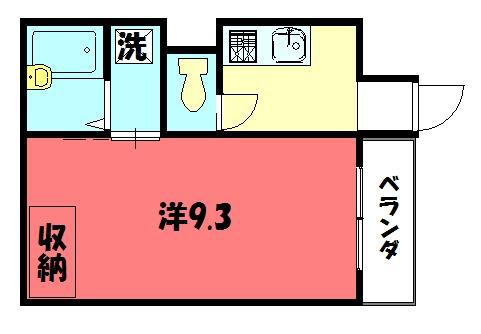 物件番号: 1075901408 Palazzo di Ratti  京都市左京区松ケ崎樋ノ上町 1K マンション 間取り図