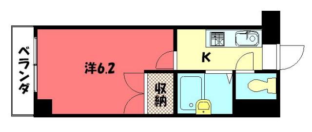 物件番号: 1075901630 ヴェルメゾン今出川  京都市左京区田中関田町 1K マンション 間取り図