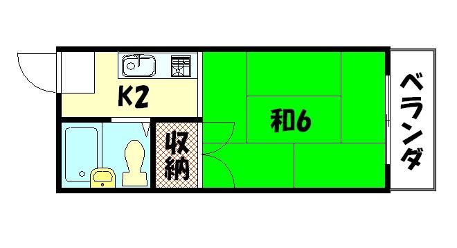 物件番号: 1075902852 メゾン洛苑  京都市左京区高野清水町 1K マンション 間取り図