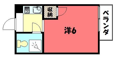 物件番号: 1075904553 ロイヤルハウスアオイ  京都市左京区下鴨西高木町 1K マンション 間取り図