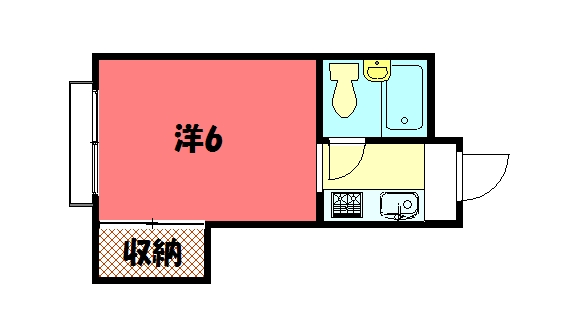 物件番号: 1075908019 メゾンロータス  京都市左京区聖護院蓮華蔵町 1K マンション 間取り図