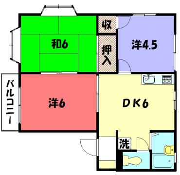 物件番号: 1075908916 アビタシオン288  京都市左京区岩倉西河原町 3DK アパート 間取り図