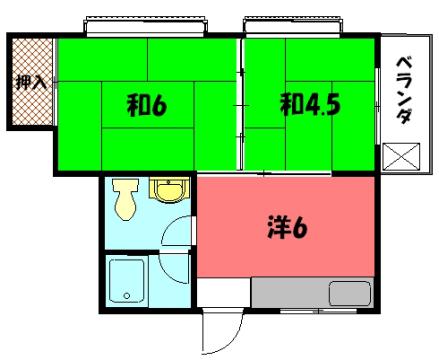 物件番号: 1075909711 ハイツひろ  京都市左京区東門前町 1DK マンション 間取り図