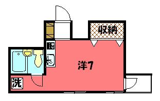 物件番号: 1075911493 ラ・ルース東山  京都市左京区粟田口鳥居町 1R マンション 間取り図