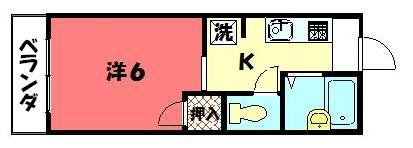 物件番号: 1075911543 アネックスエンジュ  京都市左京区北白川蔦町 1K ハイツ 間取り図