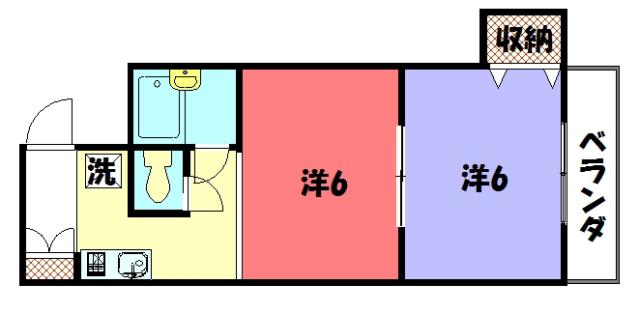 物件番号: 1075911960 サンミッシェル吉田  京都市左京区吉田本町 2K マンション 間取り図