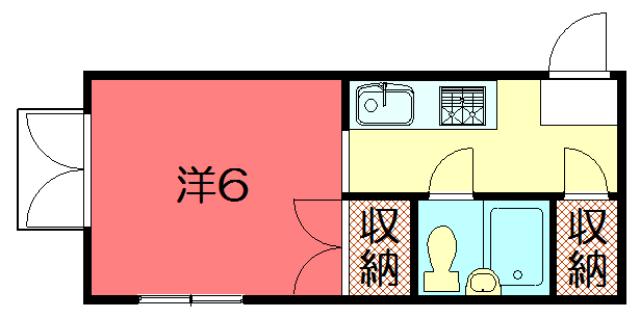 物件番号: 1075913016 メゾンロータス  京都市左京区聖護院蓮華蔵町 1K マンション 間取り図