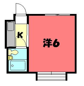 物件番号: 1075913065 メゾン奥山  京都市左京区北白川平井町 1K マンション 間取り図