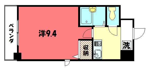 物件番号: 1075913080 アティ今出川  京都市上京区元北小路町 1K マンション 間取り図