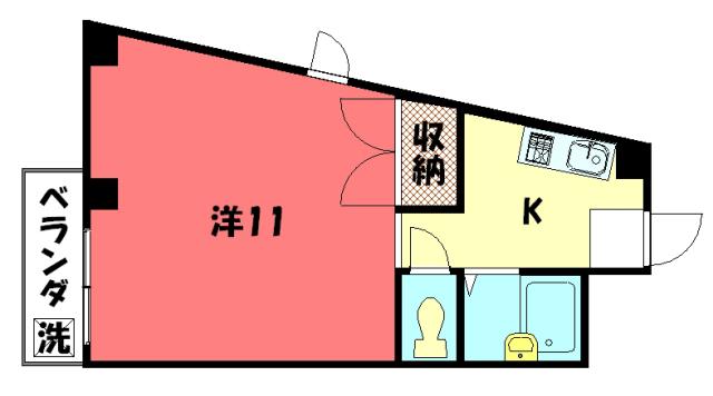物件番号: 1075913593 CASAⅢ  京都市左京区山端橋ノ本町 1K マンション 間取り図