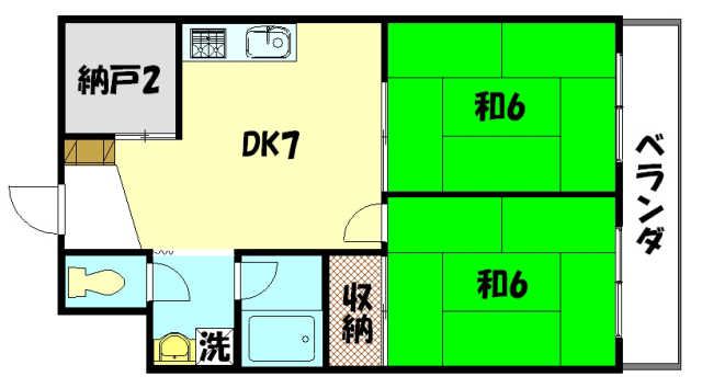 物件番号: 1075914637 第1くめマンション  京都市左京区高野清水町 2SDK マンション 間取り図