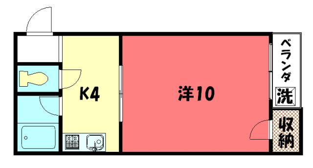 物件番号: 1075917053 リサイドS  京都市左京区田中大久保町 1K マンション 間取り図