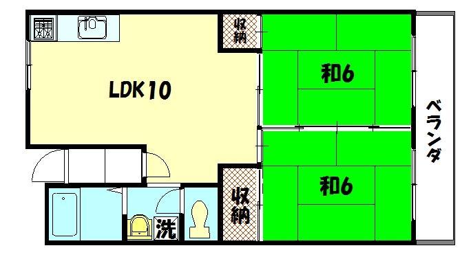 物件番号: 1075917760 カサグランデ雅  京都市左京区岩倉花園町 2LDK マンション 間取り図