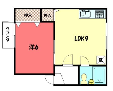 物件番号: 1075917970 レグメントダム  京都市左京区一乗寺里ノ前町 1LDK アパート 間取り図