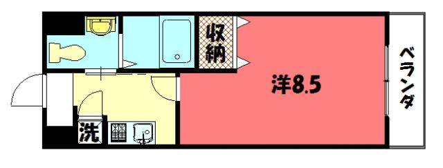 物件番号: 1075918610 レジディア洛北  京都市左京区田中南西浦町 1K マンション 間取り図