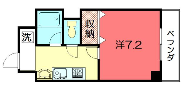 物件番号: 1075918919 CASA CALIENTE  京都市左京区上高野仲町 1K マンション 間取り図