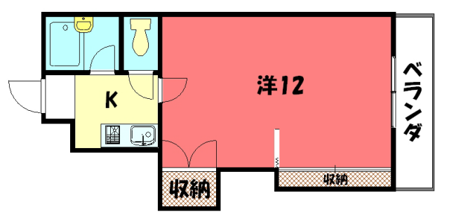 物件番号: 1075919764 グリーンパレスコムラ  京都市左京区岩倉幡枝町 1K マンション 間取り図