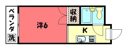 物件番号: 1075919794 ABITARE IWAKURA  京都市左京区岩倉忠在地町 1K マンション 間取り図
