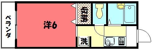 物件番号: 1075919972 ディアスグリーンホンマチ  京都市左京区吉田本町 1K ハイツ 間取り図