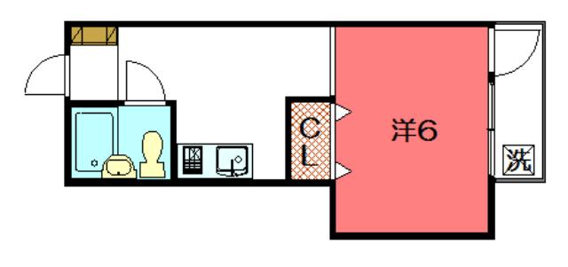 物件番号: 1075920028 アザレアコーポ  京都市左京区松ケ崎東町 1R マンション 間取り図