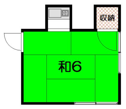 物件番号: 1075920280 藤井アパート  京都市左京区北白川大堂町 1R アパート 間取り図