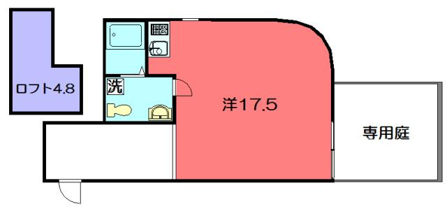 物件番号: 1075920356 S-COURT  京都市左京区田中上柳町 1R マンション 間取り図
