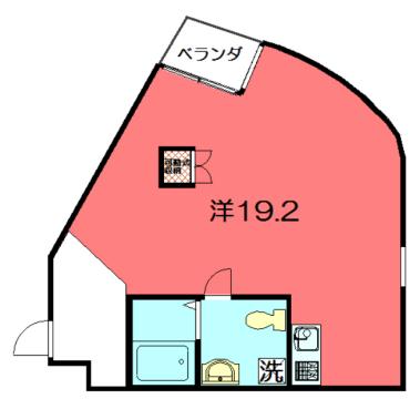物件番号: 1075920372 S-COURT  京都市左京区田中上柳町 1R マンション 間取り図