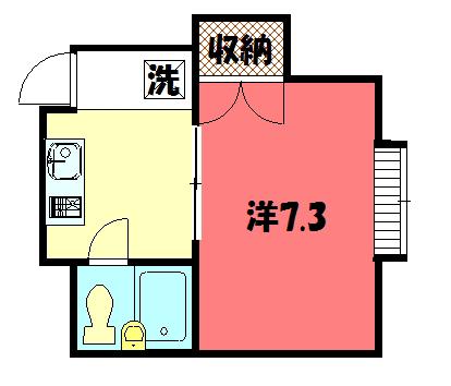 物件番号: 1075920575 コーポ島祝  京都市左京区下鴨東本町 1K ハイツ 間取り図