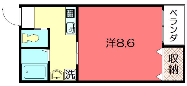 物件番号: 1075921153 京OHBUⅣ  京都市左京区田中大堰町 1K マンション 間取り図