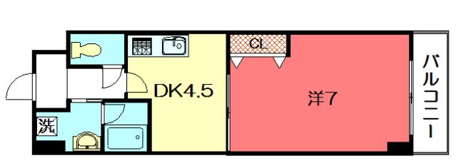 物件番号: 1075921187 エンゼルプラザ京都  京都市左京区高野清水町 1K マンション 間取り図