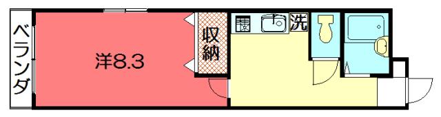 物件番号: 1075921226 ノーサイド聖護院  京都市左京区聖護院中町 1K マンション 間取り図