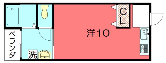 物件番号: 1075921323 藤川ビル  京都市左京区田中里ノ内町 1SDK マンション 間取り図