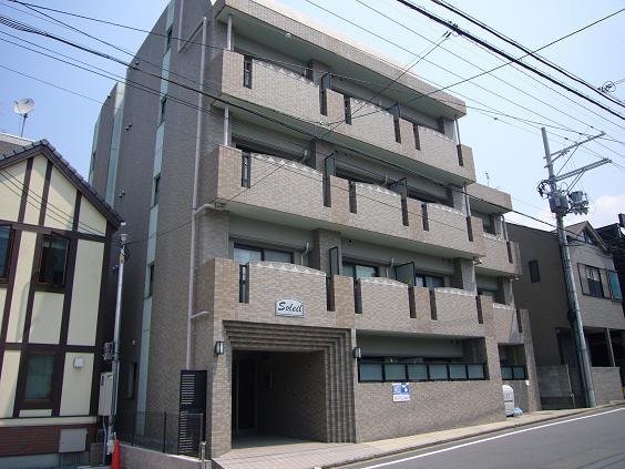 物件番号: 1075911382 ソレイユ  京都市左京区一乗寺下リ松町 1K マンション 外観画像